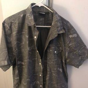 Vans men's  button up shirt